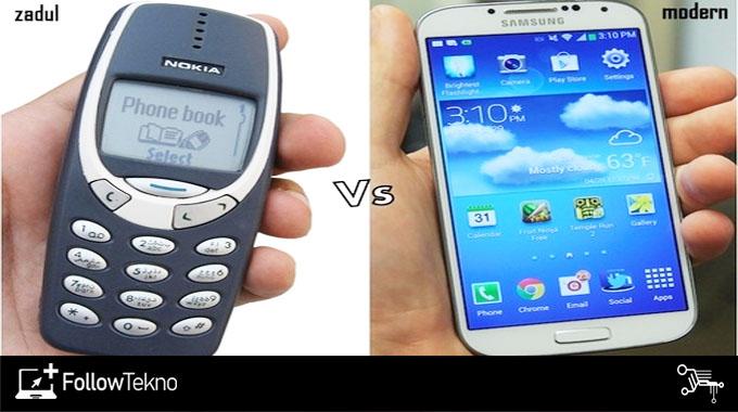 Ponsel Dulu dan Sekarang
