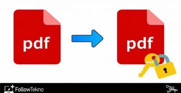 Cara Mengunci File PDF