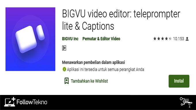 Aplikasi Video Untuk Hafalan BIGVU