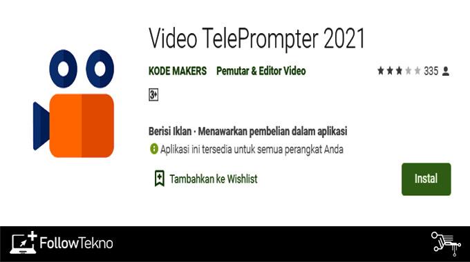 Aplikasi untuk Hafalan Video TelePrompter